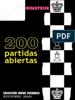 200 Partidas Abiertas - David Bronstein-LibrosVirtual