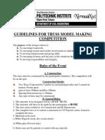 Guideline for Truss Model Making