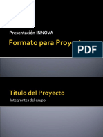 Formato Para Proyectos INNOVA