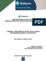 Fichamento - LUMINAR - CRESCIMENTO DE BIG DATA USANDO EMPREENDEDORISMO CORPORATIVO.doc
