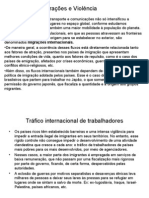 Geografia PPT - Migrações e Violência