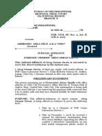 Judicial Affidavit Greg Gacus 1