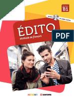 EDITO-B1-Livre de l Eleve-Seconde Editicion [DIDIER]