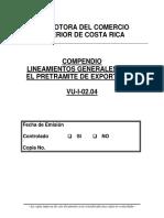 2004 PROCOMER Lineaminetos Pre Exportacion