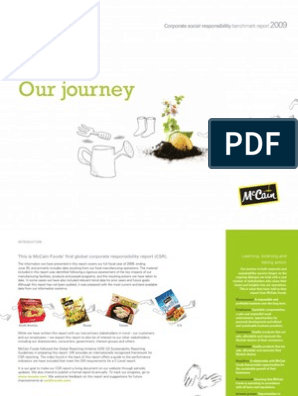 McCain Foods global CSR Report fiscal 2009 | Corporate