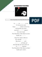 The Phantom of the Opera Song