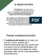 Geografia PPT - Países Desenvolvidos