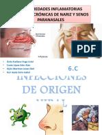 Enfermedades Inflamatorias Agudas y Cronicas de Nariz y Senos Paranasales