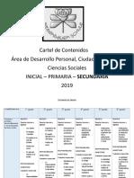 Cartel de Contenidos de ÉTICA Secundaria 2019