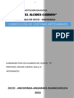 CONFECCION de Cortinas Artezanales