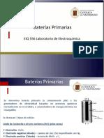 Baterías Primarias
