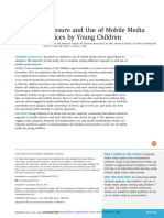 HILDA K. Exposure and Use of Mobile Media Devices by Young Children