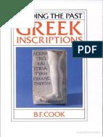 Cook, Greek Inscriptions, CUP 1987