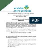 Convocatoria Wfe Cultivos Organicos