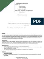 Planejamento Ensino Médio PORTUGUÊS 2019.