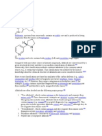 Classification Alkaloids