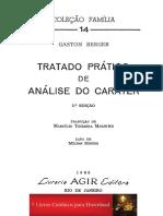 Gaston Berger - Tratado Prático de Análise Do Caráter
