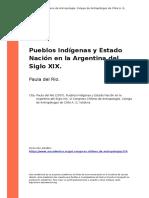 Paula Del Rio (2007). Pueblos Indigenas y Estado Nacion en La Argentina Del Siglo XIX