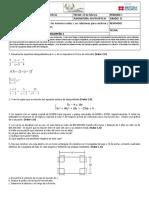 Evaluación de Matemáticas Grado 11 Desempeño i