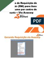 MANUAL - Requisição de Materiais - Avacorp