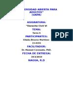 """Tarea 6 de """"Derecho Civil 6"""