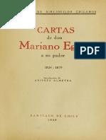 Cartas de Don Mariano Egaña a Su Padre