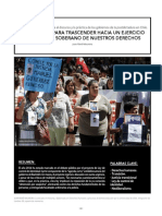REFLEXIONES PARA TRASCENDER HACIA UN EJERCICIO COLECTIVO Y SOBERANO DE NUESTROS DERECHOS