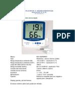 Termohigrometro Digital Con Sensor Ref Sh 109 Kex
