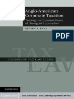 Anglo American Corporate Taxation Tracing the Common Roots of Divergent Approaches Cambridge Tax Law Series
