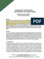 Transferencias e interferencias en El Aprendizaje de Una Segunda Lengua
