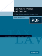 Tax Policy Women and the Law UK and Comparative Perspectives Cambridge Tax Law Series