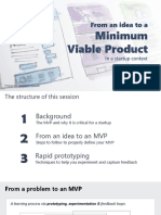 From an idea to a Minimum Viable Product