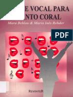 Higiene Vocal Para O Canto Coral Mara Behlau Maria Ines Rehder
