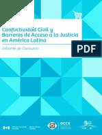 Conflictividad Civil y Barreras de Acceso a la Justicia en América Latina Informe de Consumo