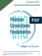 1- Fundamentos Finanzas Corporativas