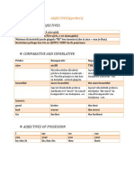 Adjectives, Pronouns, Articles