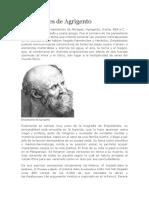 Biografia Empédocles de Agrigento