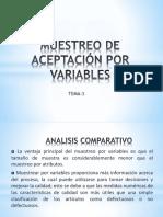 Muestreo de Aceptación Por Variables Tema 3
