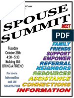 Spouse Summit Oct 10