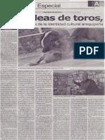 Las peleas de toros, insignia inequívoca de la identidad cultural arequipeña, Juan Guillermo Carpio Muñóz