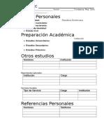 Curriculum en Blanco