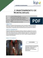 Informe Inspeccion de Montacarga
