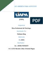 Tarea 6 de Ética Profesional Del Psicólogo