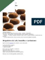 Brigadeiros de café