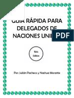 Guía Rápida Para Delegados de Naciones Unidas Portada