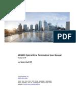 Cisco ME4620 OLT User Manual V3!4!17