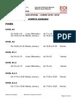 Oferta Horaria Italiano Curso 2018-2019.1
