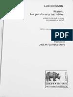 Luc Brisson - Platón, las palabras y los mitos.pdf