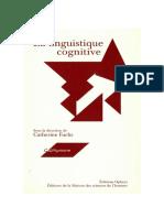 Linguistique Cognitive