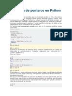 Ausencia de Punteros en Python